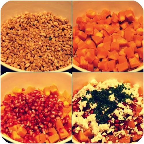 pumpkin kamut salad