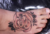 Rose 'n Skull Day - 001 (taiom) Tags: rose tattoo rosas caveira tatuagem diamante pretoecinza blackngrey taiom rosenskullday