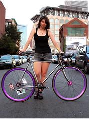 Roz Patterson: Boston MA (Candy Cranks) Tags: girlsonbikes chicksonbikes fixedgearbikes ladiesonbikes ladiescycling candycranksphotocompetition