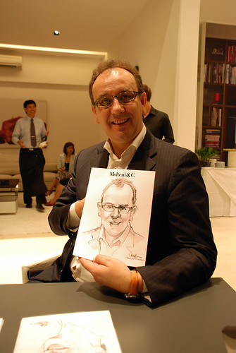 Caricature live sketching for Molteni & C - g