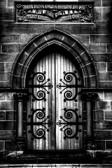 Church in Black and White (Luke Peterson Photography) Tags: door white black church hdr