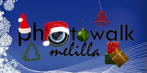 Logo Navideño PHOTOWALK MELILLA