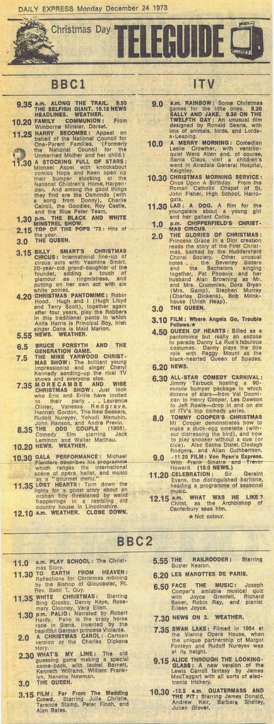 Christmas Day TV 1973