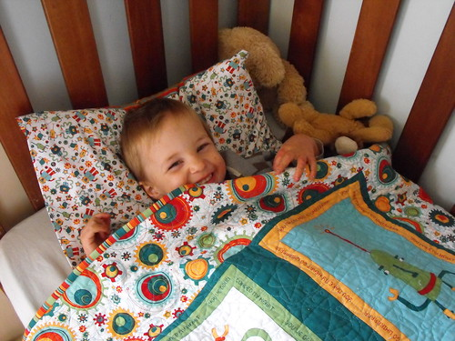 Noah in his Cogsmo bed