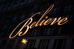 Macys - Believe (Tattooed JJ) Tags: nyc ny fun lights december manhattan believe macys kiwi k5 jjp lightsbryantsquarejjpk5nynycdecemberkiwilightsmanhattanpentaxskatestilltestingtrees
