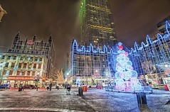 Market Square and PPG Place (Dave DiCello) Tags: christmas xmas skyline photoshop nikon pittsburgh tripod christmastree bluehour nikkor hdr highdynamicrange xmastree marketsquare cec cs4 mellonarena ppgplace steelcity photomatix pittsburghpenguins yinzer cityofbridges tonemapped theburgh pittsburgher cs5 christmasquotes d700 thecityofbridges coloreffex pittsburghphotography consolenergycenter davedicello pittsburghcityofbridges steelscapes hdrexposed picturesofpittsburgh ppgplacetree ppgplacexmastree cityofbridgesphotography