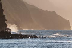 ke'e beach (damien jay) Tags: ocean sunset hawaii waves cliffs kauai keebeach napalicoast haenastatepark