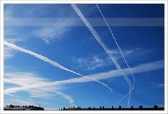 ¡¡OH!! CIELOS....  QUE CIELO!!! (Marisa Gabín (*)) Tags: sky galicia cielo aviones acoruña betanzos pasb estelas nikond60 marisagabín 265mil fgceo