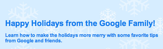 Google Forums Happy Holidays