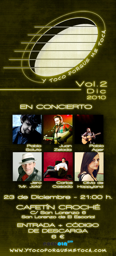"""Flyer Vol.2 Diciembre 2010 """"Y toco porque me toca"""""""