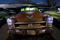 FirePower (Lost America) Tags: lightpainting night newyorker dew junkyard hemi chrysler 1952 nocturnes thebigm