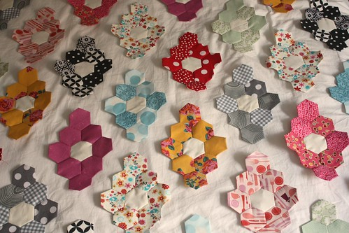Hexagon Quilt Progress