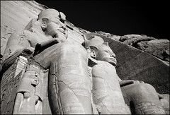 Ramesses II (katepedley) Tags: blackandwhite bw lake monument rock canon giant temple carved ancient sandstone desert hill great egypt middleeast royal statues unesco east southern upper ancestor empire egyptian manmade 5d middle abu 1740mm pharoah ramses simbel nasser worldheritage ozymandias nubian rameses ramesses relocated polariser nefertari