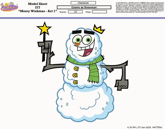 Cosmo as Snowman