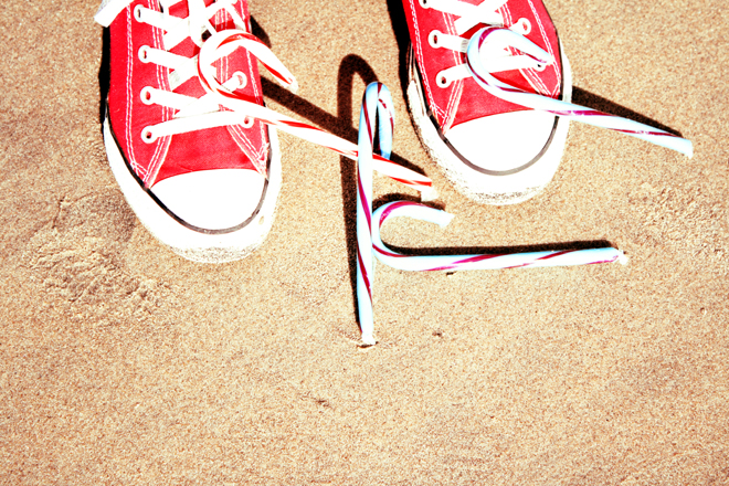 Candy Cane Converse