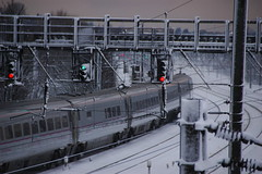 Snowy Northward Bound? (milolovitch69) Tags: winter snow train railway 2010 hornsey