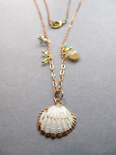 Shell Necklace by ju ju be