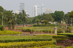 Ambani's palace behind the hanging garden's