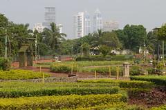 Ambani's palace behind the hanging garden's