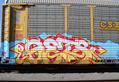 Gets (BURQUENO) Tags: auto train graffiti albuquerque rack roller etc h2 freight gets bozo resa rax rtd holley igk fr8 asic