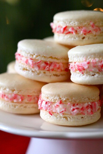Candy Cane Macarons for a Virtual Holiday Party | Annie's Eats