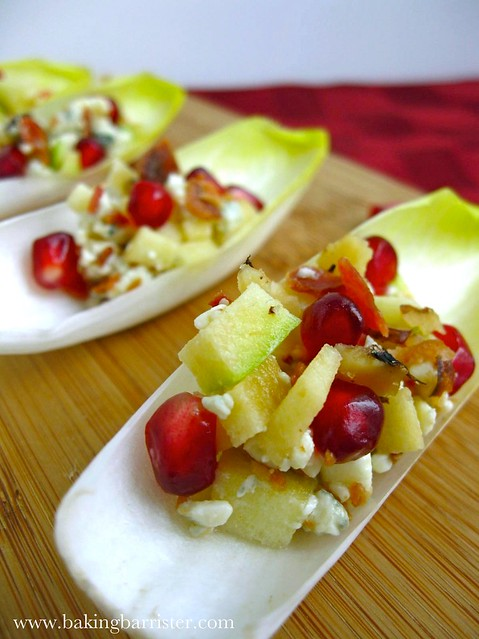 Endive, Blue Cheese, And Pomegranate Salad Recipe — Dishmaps