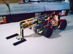 Lego Technic Boomed Forklift (simon_lyell) Tags: lego technic