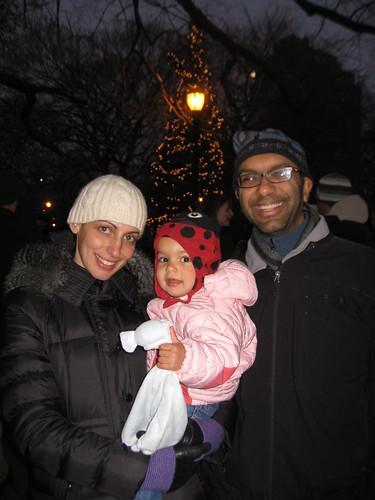 Laila at the Christmas-tree lighting