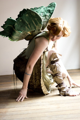 Clockwork wood nymph costume