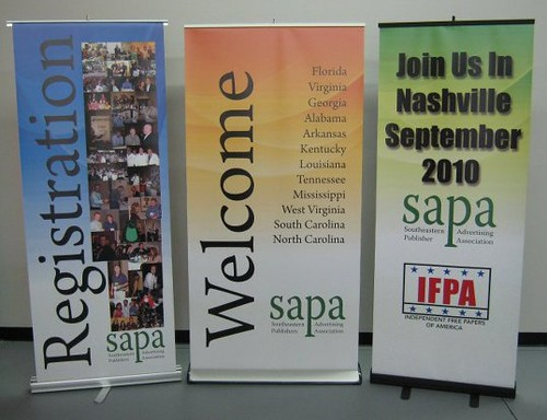 Full color retractable banner displays and stands 12-Point SignWorks Franklin, TN