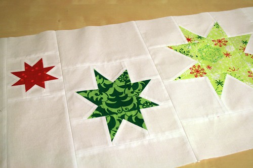 wonky stars table runner