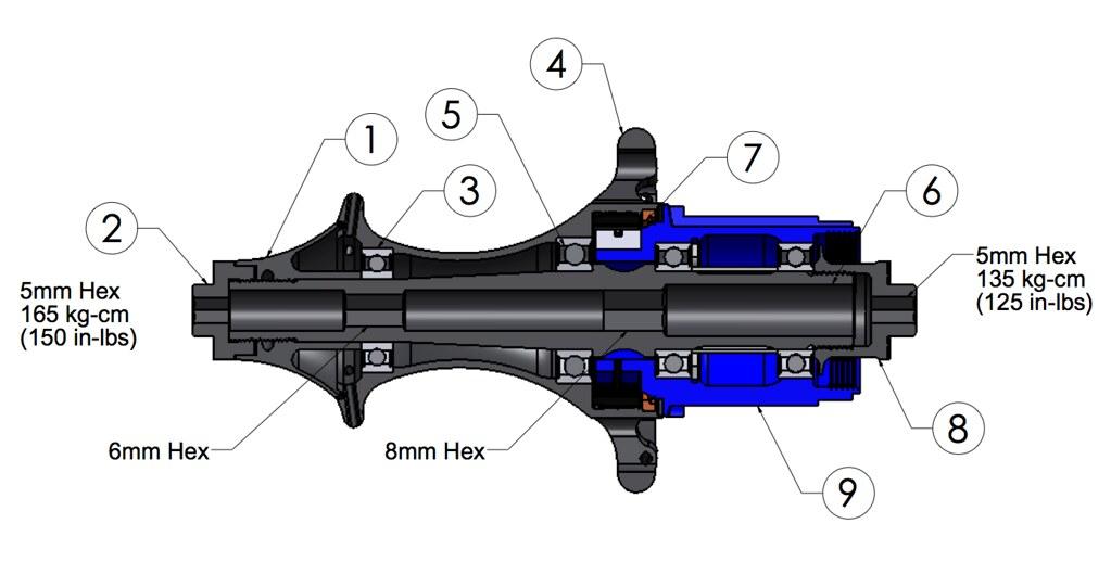 Easton R4SL Rear Hub Assembly