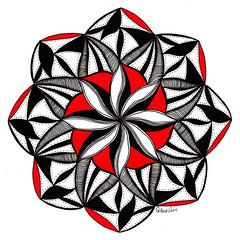 mandala006 (Amaryllis Creations) Tags: mandala penink zentangle