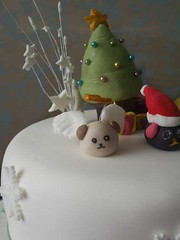 - Mameshiba Christmas Cake cu (crayonmonkey) Tags: christmas xmas cake decoration sugar cm   christmascake sugarcraft sugarpaste mameshiba