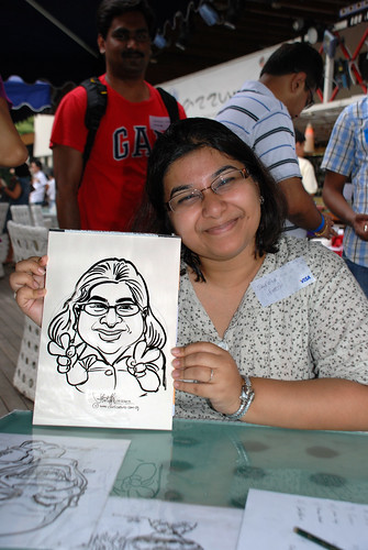 Caricature live sketching for VISA Beach Party 2010 -17