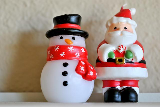 Papa Noel y Muneco de Nieve
