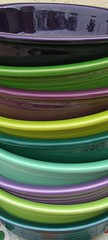 All the Post 86 Fiestaware Purples & Greens (dumblady) Tags: green fiesta purple heather teal cereal chartreuse violet mint plum lilac evergreen lime bowls lemongrass shamrock fiestaware juniper seamist ware 7inch 19oz
