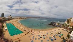 Una de mis mejores fotos del 2010 -La Toalla mas grande del mundo en Las Canteras - Las Palmas de Gran Canaria