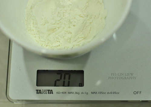 Microwaved Tangzhong -- Weighing Bread Flour
