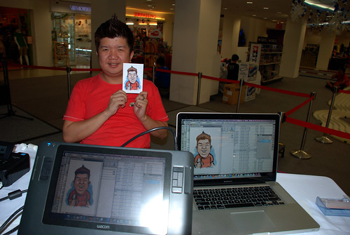 digital caricature live sketching @ Liang Court - day 3 - 8a