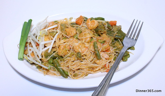 Thai Red Curry Shrimp Noodles