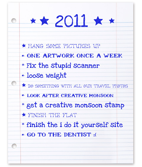 2011 new year's resolutions