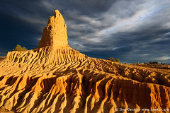 Storm clearing over the Walls of China in Mungo National Park, NSW, Australia (ILYA GENKIN / GENKIN.ORG) Tags: china park travel sunset wild storm color colour nature rock clouds sunrise landscape nationalpark sand desert getaway bare empty dune australian scenic dramatic dry australia nobody erosion national nsw newsouthwales outback remote walls wilderness desolate barren climate arid rugged lunette mungo faraway oceania lifeless