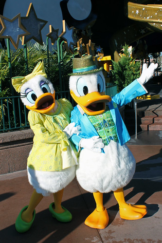 Meeting Donald and Daisy Duck
