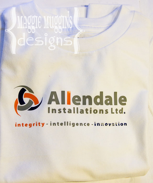 Business Tees with Silhouette Heat Transfer Vinyl