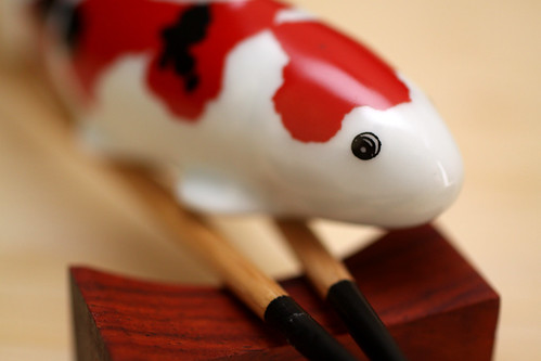 Ceramic Koi Close Up