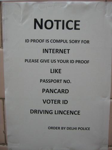 "ID proof ""compul sory"" for Internet usage"