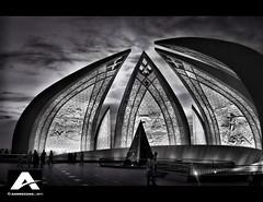 Location: Pakistan National Monument Islamabad, Pakistan (Ahmed Zoha (Away)) Tags: pakistan monument blackwhite islamabad