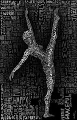 The Dancer (Ben Heine) Tags: light wallpaper blackandwhite ballet music woman inspiration art colors girl monochrome dedication illustration graphicart project typography hope freedom words dance movement energy colorful dynamic arms legs image body lumire quality air femme text details curves arts picture free atmosphere happiness twist grace sharp oxygen melody stop libert freeze harmony license letter faceless series torso limbs calligraphy conceptual copyrights dynamism handwritten visualart imagery ecosystem workflow luminosity postprocessing danseur danseuse theartistery thedancer modernjazz digitaltechnology creativecomposition benheine benheinecom