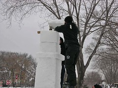 heightening snow block